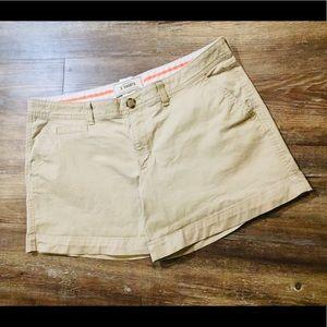 """Old Navy Perfect 5"""" Khakis Shorts Sz 10"""